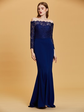 Ericdress Off-the-Shoulder Long Sleeves Mermaid Evening Dress