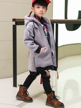 Ericdress Hooded Zipper Mid-Length Boy's Coat