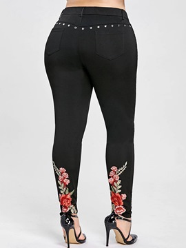 Ericdress Embroidery Plain Women's Leggings