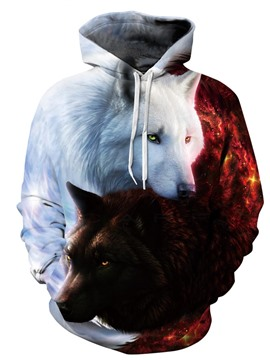 Ericdress 3D Painted Loose Hooded Sweatshirt