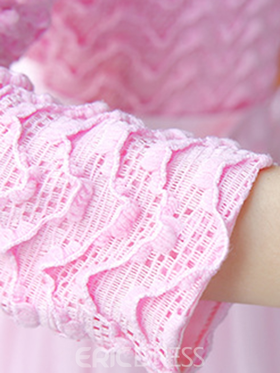 Ericdress Mesh Bowknot Long Sleeve Girl's Princess Dress