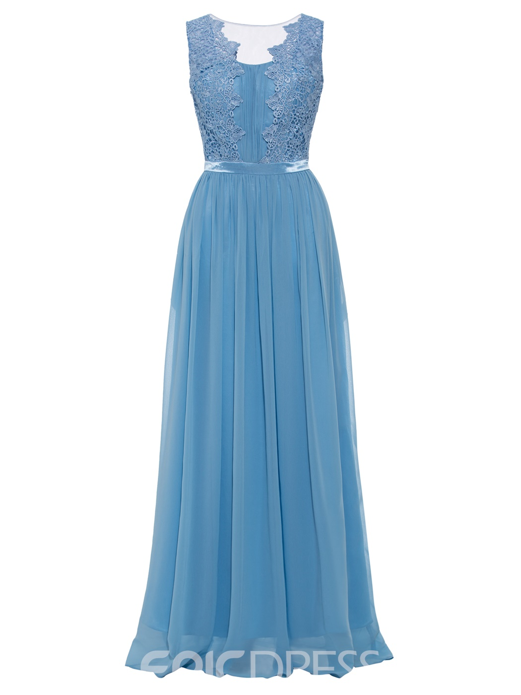 Ericdress A Line Appliques Floor Length Long Evening Dress