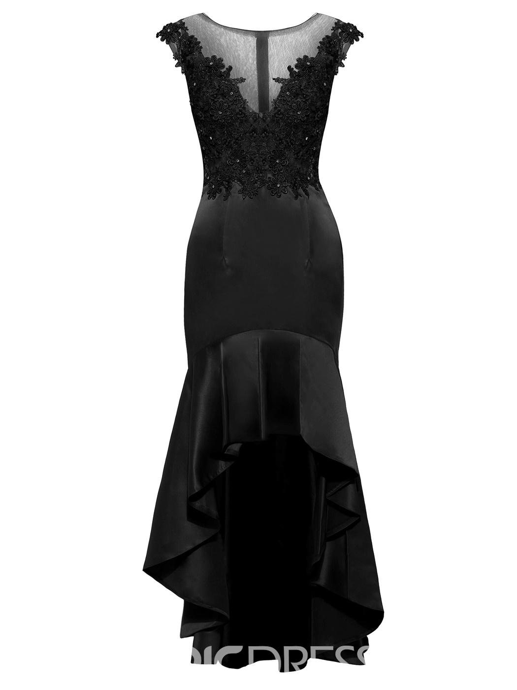 Ericdress Scoop Neck Beaded Mermaid Evening Dress