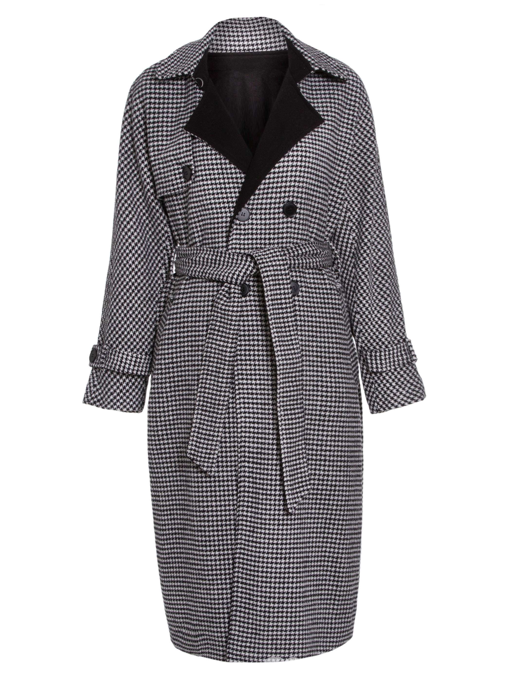 Ericdress Lapel Double-Breasted Cashmere Trench Coat