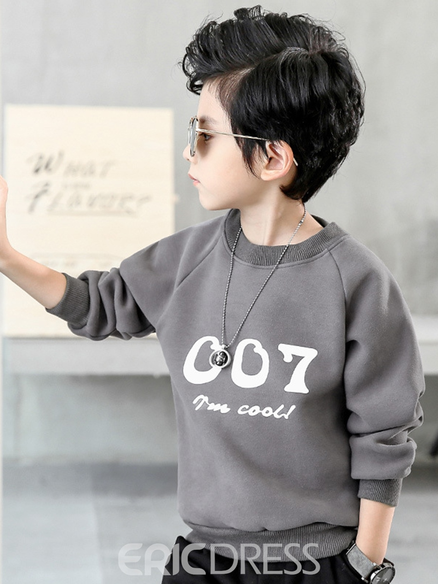 Ericdress Letter Print Thick Long Sleeve Boy's Outerwear