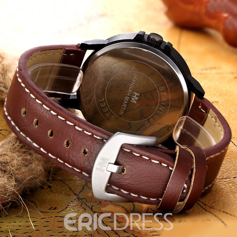 Ericdress JYY Round Plate with Double Calendar Watch for Men