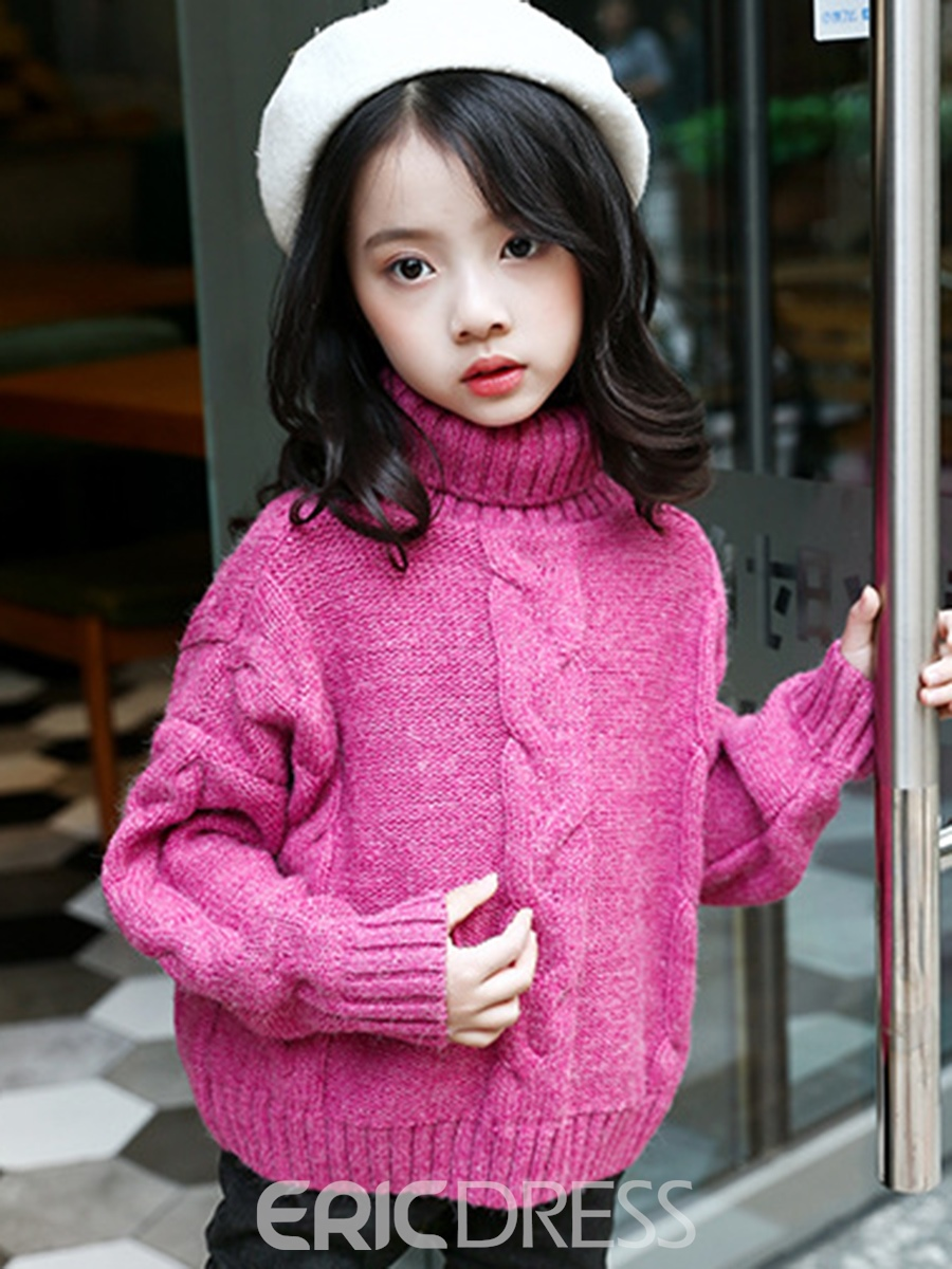 Ericdress Turtleneck Thick Pullover Girl's Sweater