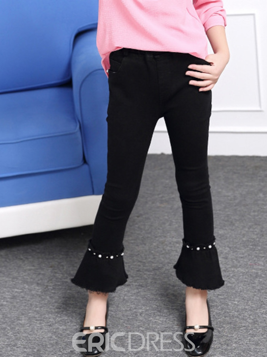 Ericdress Crystal Wrapped Bellbottoms Girl's Pants