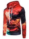 Ericdress Hooded Print Lace-Up Men's Hoodie