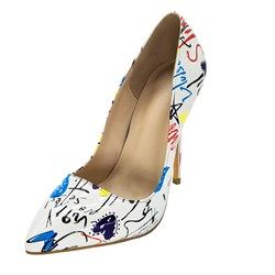 Ericdress Print Pointed Toe Stiletto Heel Pumps