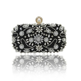 Ericdress Vintage Velour Beads Rhinestone Evening Clutch