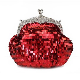 Ericdress Shining Sequins Solid Color Clutch