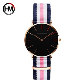 Ericdress Striped Band Watch for Women
