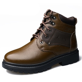 Ericdress Round Toe Lace-Up Patchwork Men's Martin Boots