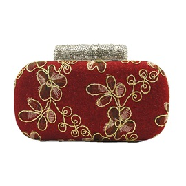 Ericdress Graceful Embroidery Rhinestone Mini Clutch