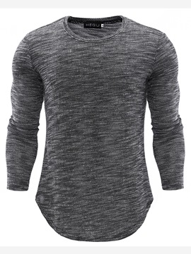 ericdress schaufel slim fit herren casual t-shirts