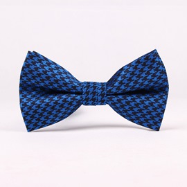 Ericdress Retro Houndstooth Bowtie for Men