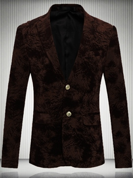 Ericdress Two Button Floral Quality Vogue Men's Blazer
