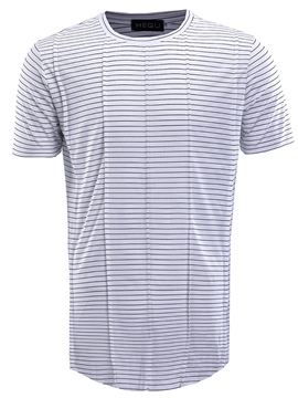 Ericdress Round Neck Stripe Patchwork Short Sleeve Men's T Shirt