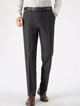Ericdress Solid Color Straight Men's Pants