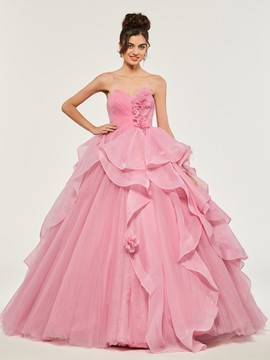 ericdress sweetheart empire plis à volants balle quinceanera robe