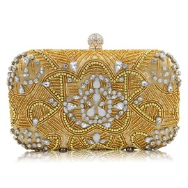 Ericdress Luxurious Pearl Rhinestone Evening Clutch
