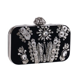 Ericdress Rhinestone Embroidery Corduroy Women Clutch