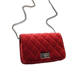 Ericdress Casual Quilted Lining Design PU Crossbody Bag