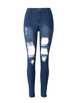 Ericdress Denim Plain Women's Jeans