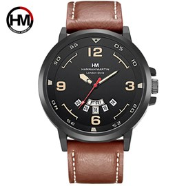 Ericdress Leather Strap Round Case Men's Watch