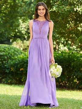 Ericdress A-Line Beaded Long Bridesmaid Dress