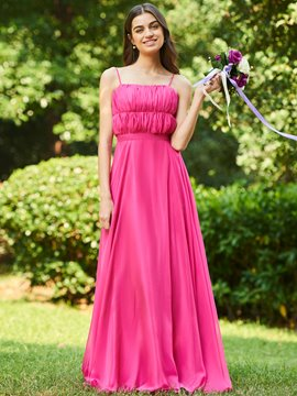 Ericdress Spaghetti Straps A-Line Bridesmaid Dress