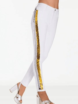Ericdress Sequins Patchwork Women's Pants