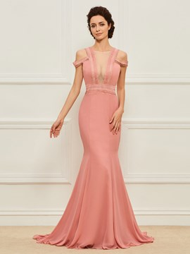 Ericdress Mermaid Backless Mother of the Bride Dress