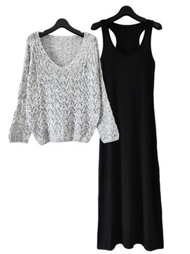 Ericdress Sweater and Dress Women's Suit