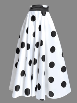 Ericdress Polka Dots A-Line Women's Skirt
