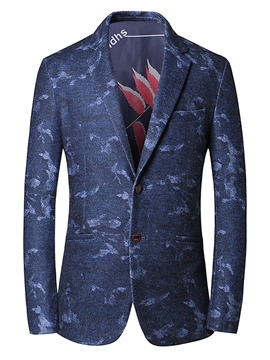 Ericdress Notched Lapel Print Fit Men's Blazer