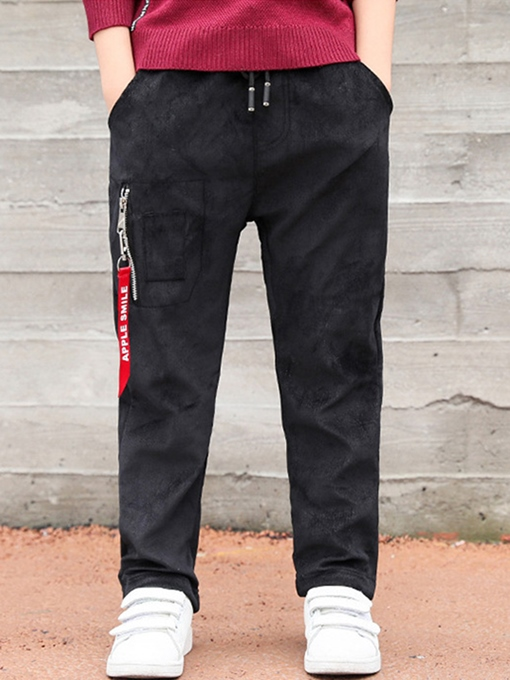 Ericdress Zipper Straight Full Length Boy's Pants