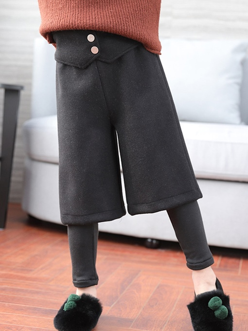 Ericdress Plain Double-Layer Thick Girl's Pant