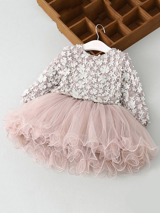 Ericdress Appliques Mesh Princess Baby Girl's Dress