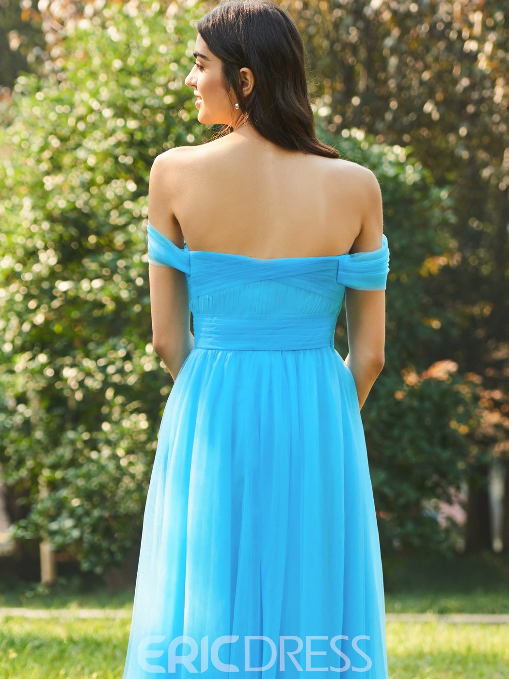 Erikdress off-the-shoulder a-line Brautjungfernkleid
