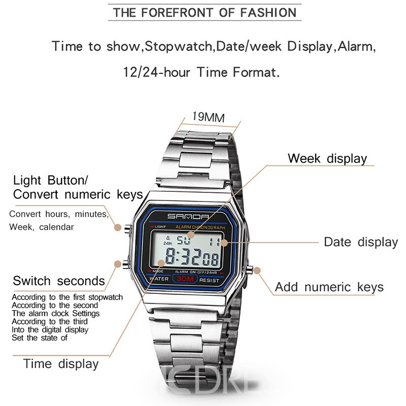 Ericdress JYY Electronic Digtal Display Men's Watch