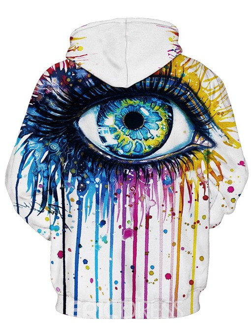 Ericdress Loose Mid-Length Hand Painted Cool Hoodie