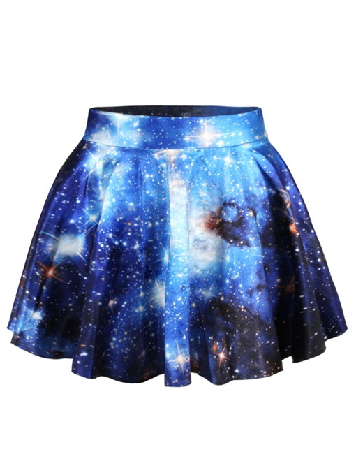 Ericdress Gradient Print Ball Gown Star Skirt