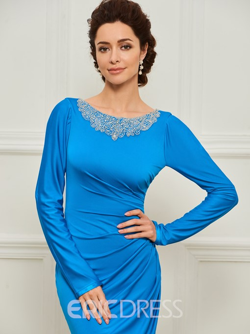 Ericdress Mermaid Long Sleeves Spandex Mother of the Bride Dress