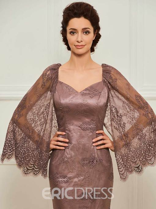 Ericdress Lace Mermaid Long Sleeves Mother of the Bride Dress