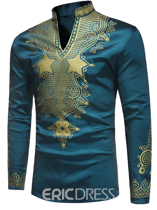 Ericdress African Fashion Dashiki Ethnic Print Men's T Shirt