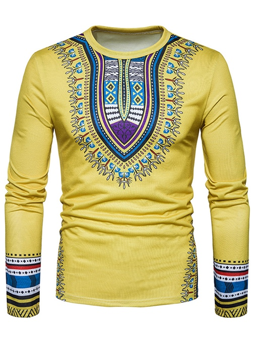 Ericdress African Fashion Dashiki Ethnic Scoop Mens Casual T Shirt