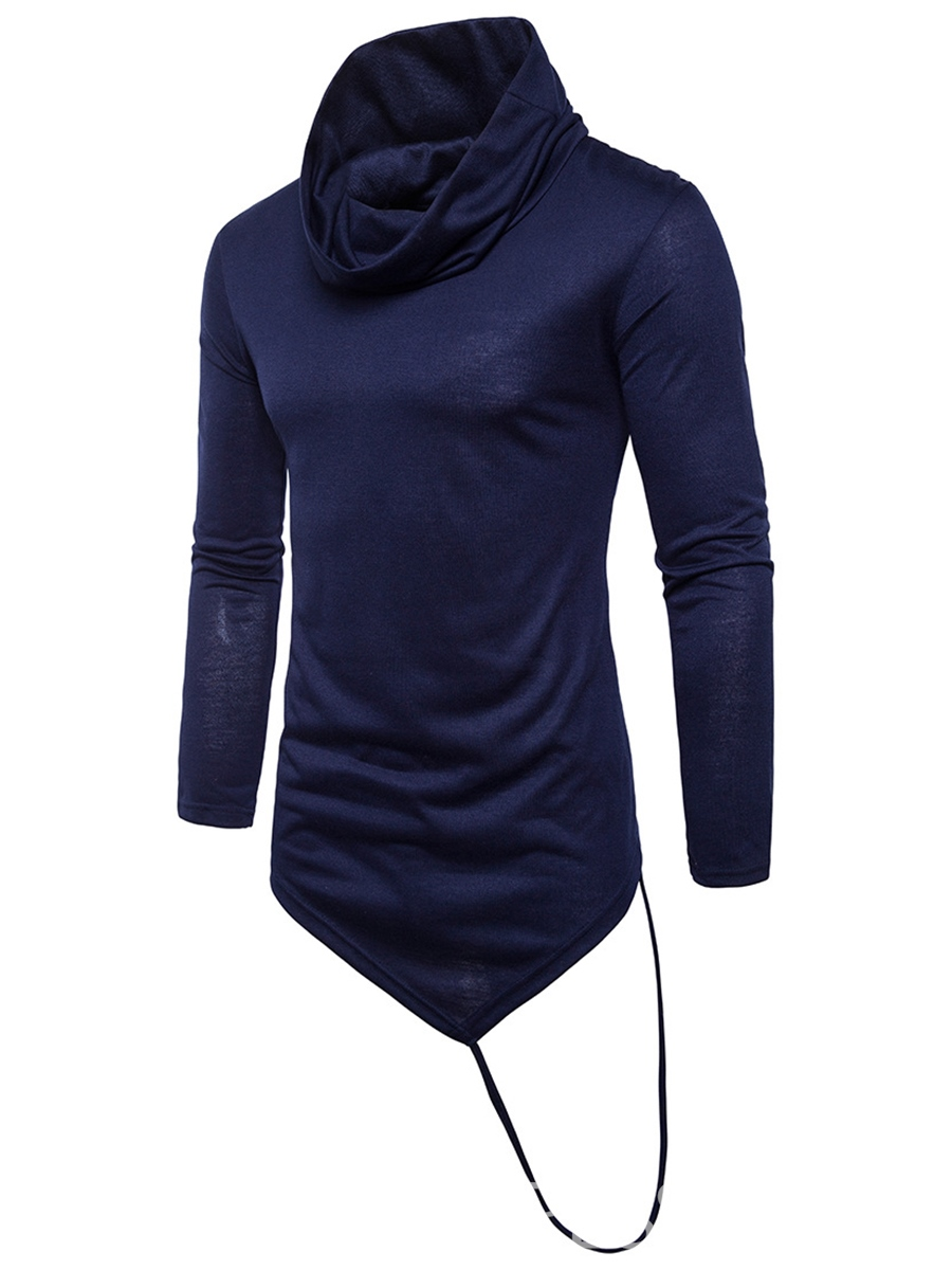 ericdress Plain Heap Kragen Slim Fit Herrenhemd
