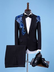 Ericdress Sequins Embroidery Fit Wedding Mens Suit